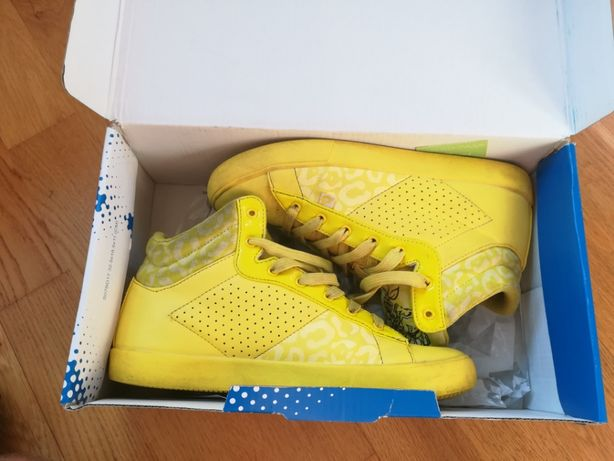 Buty Lotto Donna 36,5 23,5 cm żółte wysokie sneakersy sportowe