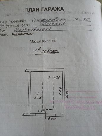 Гараж по вул.Стефановича (за РЕСом) біля пожарки