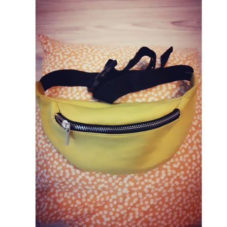 Limonkowa nerka saszetka neonowa holo torebka na pasku Reserved sport