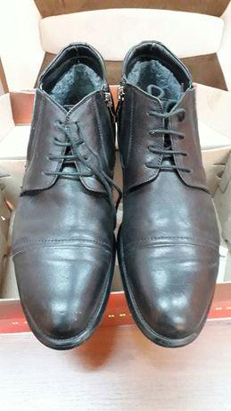 Зимние кожаные ботинки на меху 31,5 см стелька