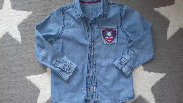 Koszula jeansowa ciuchcia Tomek M&S r.110