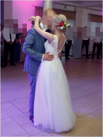 Suknia ślubna 36 wraz z welonem 3m Ostrołęka