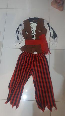 Strój  kostium chlopiecy pirat 140
