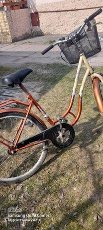 Rower  kolor brązowo kremowy