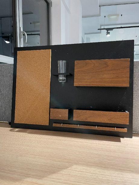 Drewniany organizer ścienny Silva Design