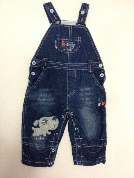 Комбинезон джинсовый на мальчика 9-12 мес