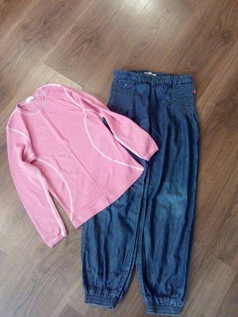 Тонкие джинсы и термореглан на 8лет.