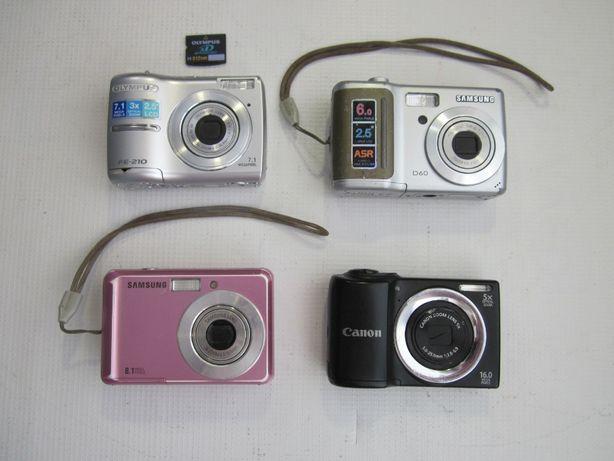 Фотоаппараты рабочие, в ремонт, на запчасти