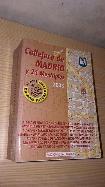 Mapa detalhado da cidade de Madrid e 24 concelhos dos arredores