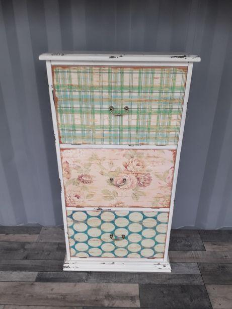 Kolorowa szafka na buty trzy szuflady