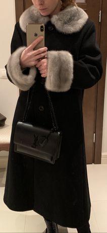 Пальто люкс с норкой