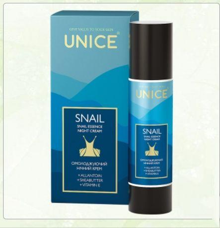 Омоложивающий ночной крем с улиткой для лица Unice