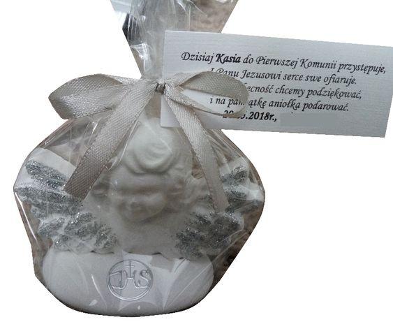 Figurki, aniołki gipsowe podziękowania na komunię, chrzciny, wesele