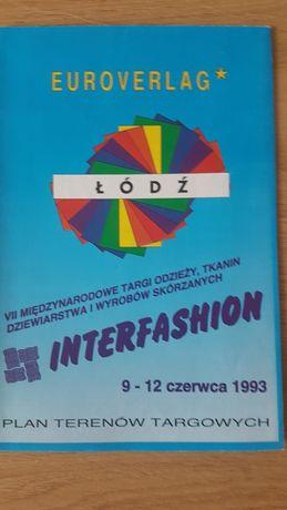 Łódź Interfashion 1993 plan terenów targowych. Euroverlag