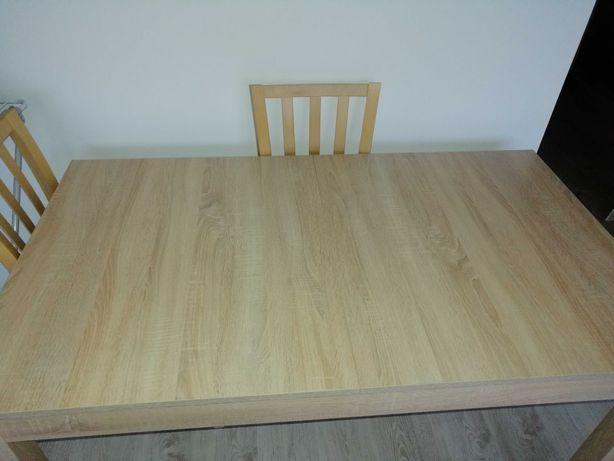Stół z 4 krzesłami dąb sonoma