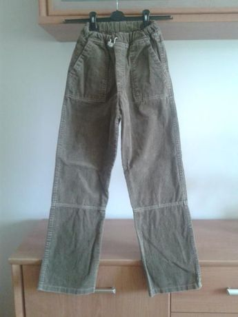 Spodnie sztruksowe w gumkę - wiek 10-12 lat (dokładne wymiary)