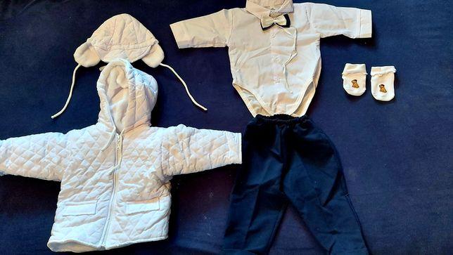 Ubranko do chrztu dla chłopca r.68 jesień/zima