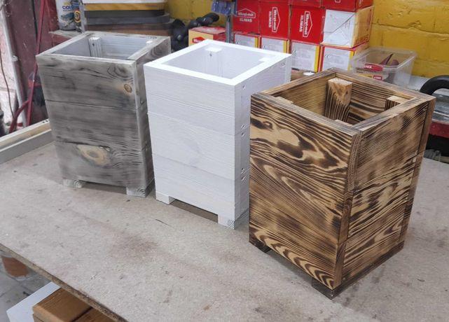 Doniczka drewniana 20x20, doniczki drewniane, donica, donice, skrzynki