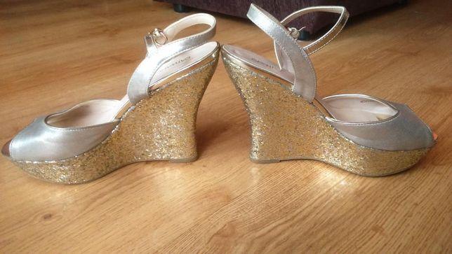 Graceland Koturny złoto-beżowe 40 roz. CATWALK
