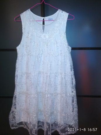 Белое платье сарафан Mayoral