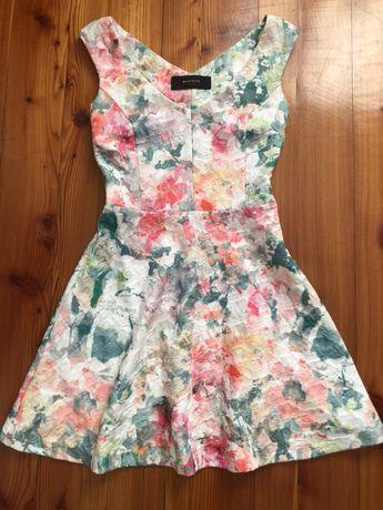Sukienka Reserved mini kolorowa r.36/S wesele