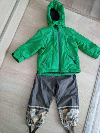 Spodnie narciarskie ocieplane i kurtka narciarska roz 98/104