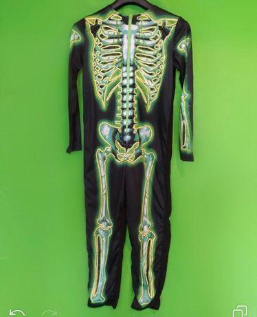 Карнавальный костюм. Комбинезон. Хэллоуин. Скелет.