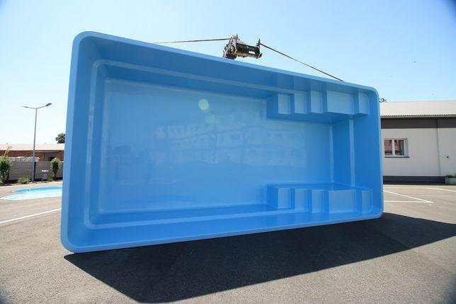 Basen ogrodowy poliestrowy baseny z laminatu 7,5x3,7 PRODUCENT