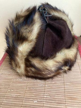 Rewelacyjna piękna stylowa czapka na zimę - prawdziwa skóra