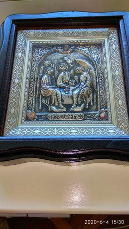 Продам Икону Серебро Троица