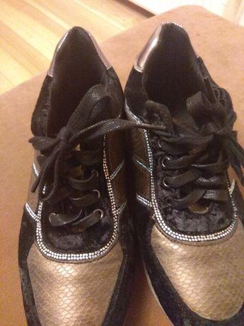 Buty sportowe czarno - zlote roz 41