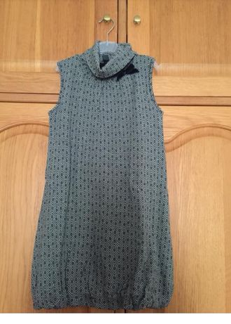 Vestido ZARA KIDS laço veludo azul tamanho 11/12 novo