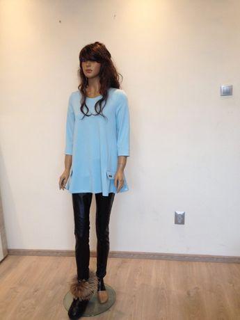 Błękitna tunika wzór Elisabetta Franchi L