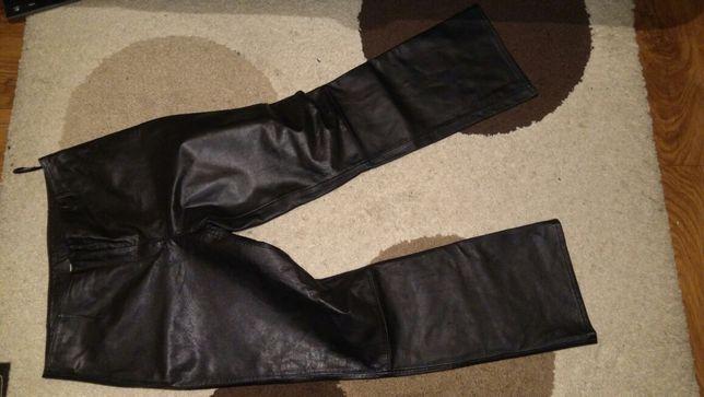 Spodnie damskie skórzane.