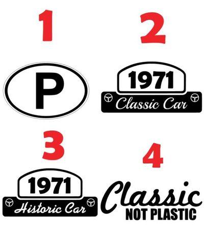 Autocolantes para carros clássico personalizados - portes grátis