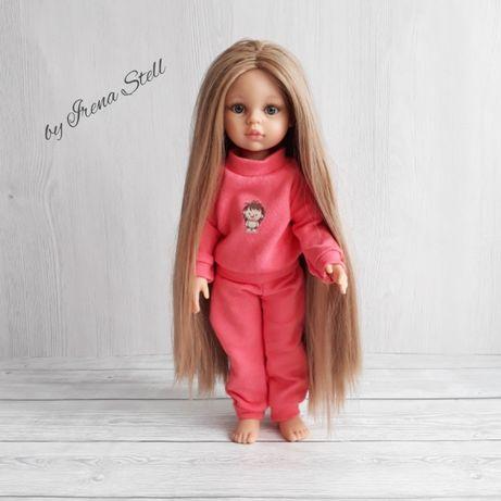 Ubranie dresiki piżama kolr koralowy lalka 32 cm Paola Reina La lalla