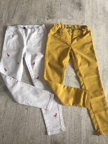 Spodnie 2 pak, roz.128 Benetton/Calzedonia