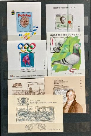 znaczki polskie bloki zestaw7