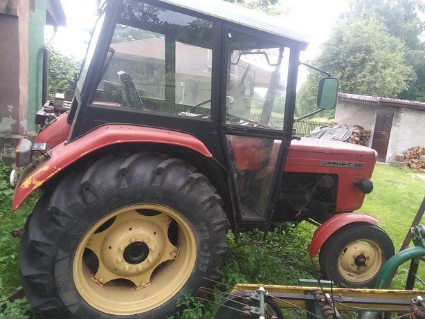 traktor ursus 360 , pług 2 skibowy