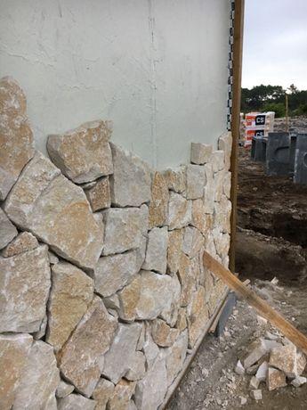 Pedra grossa paredes rústica