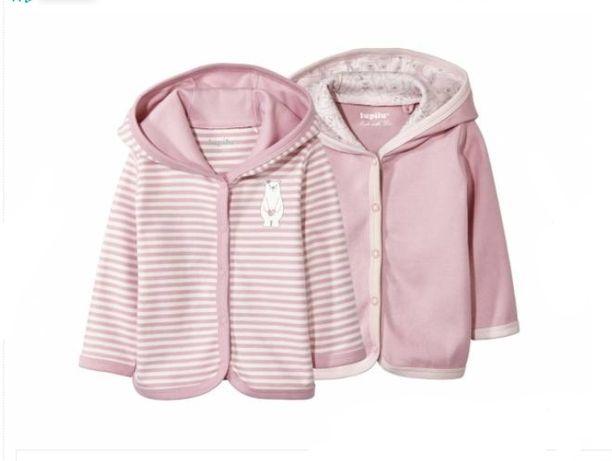 2x Nowa dziecięca bluza z kapturem 1-2 lupilu 86-92 sweterek bluzka