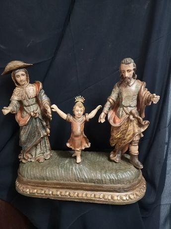 Sagrada família em madeira Arte Sacra