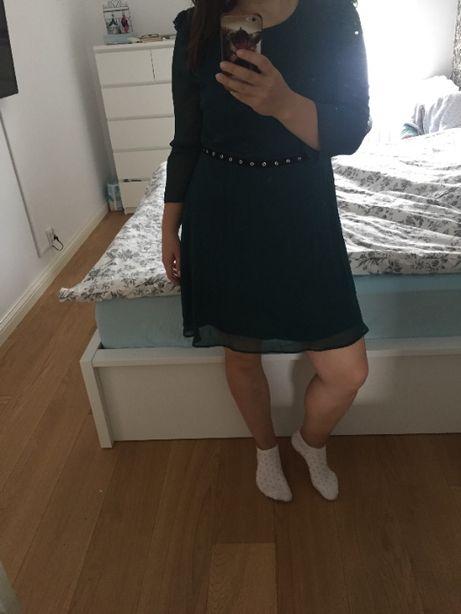 Zielona zwiewna sukienka New Look rozmiar 42