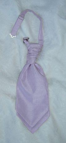 Musznik krawat ślubny fioletowy garnitur