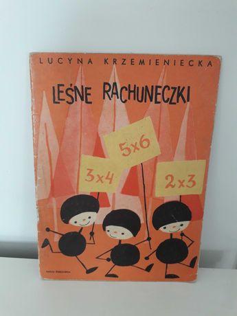Książka 1966 Leśne rachuneczki, lata 60te