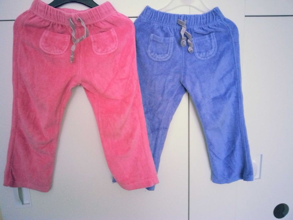 Spodnie dziecięce  welurowe F&F rozmiar 92-98 dla bliźniaczek Częstochowa - image 1