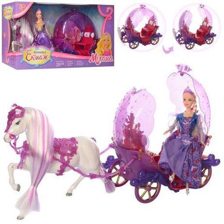 Карета с лошадью и куклой 238 А, на подставке, в коробке