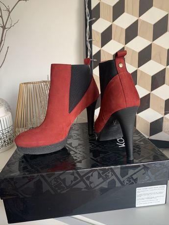 Nowe czerwone botki Kazar 9cm