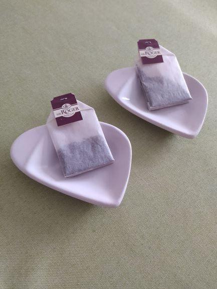 Podstawki do torebek na herbatę białe szklane Szamotuły - image 1