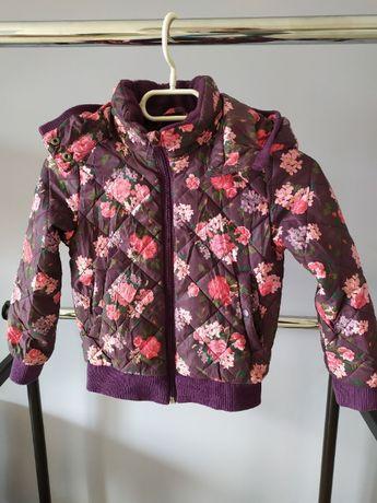Kurtka jesienno-wiosenna w kwiaty H&M rozmiar 122